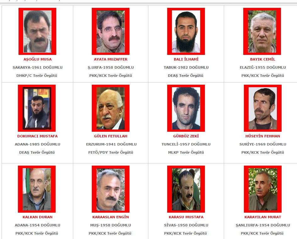 Aranan teröristler' listesi yenilendi! galerisi resim 1