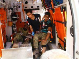 Yaralananlar Türkiye'ye getirildi