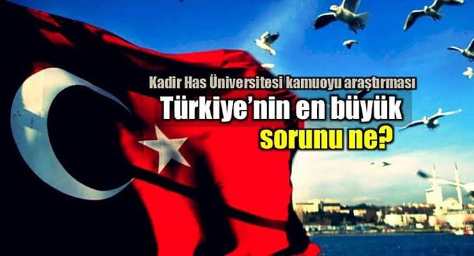 İşte o araştırmanın sonuçları… Türkiye için en büyük sorun nedir?