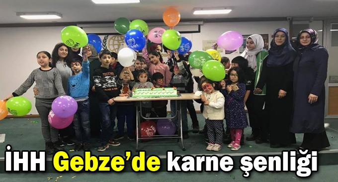 İHH Gebze'de karne şenliği