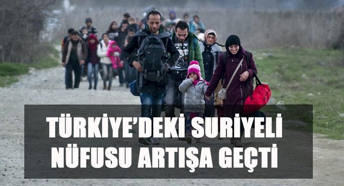 Türkiye'de ki Suriyeli nüfusu artışa geçti