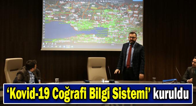 Kocaeli'de 'Kovid-19 Coğrafi Bilgi Sistemi' kuruldu