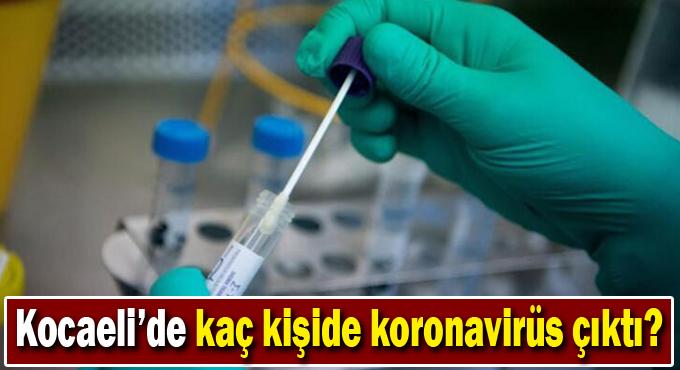 Kocaeli'de kaç kişide koronavirüs çıktı?