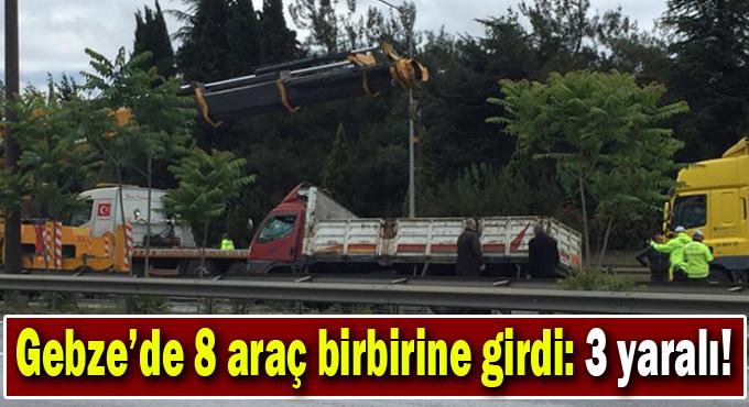 Gebze'de araç birbirine girdi: 3 yaralı!