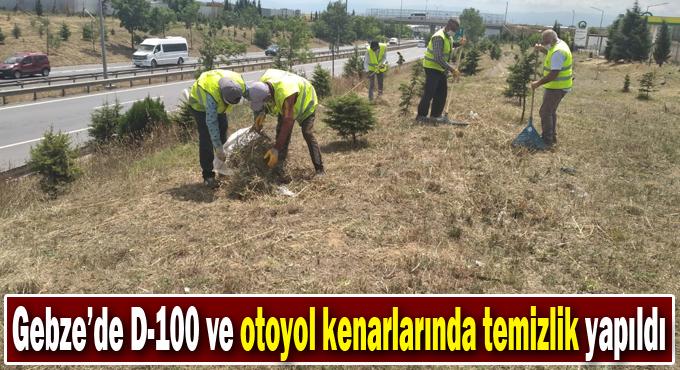 Gebze'de D-100 ve otoyol kenarlarında temizlik yapıldı