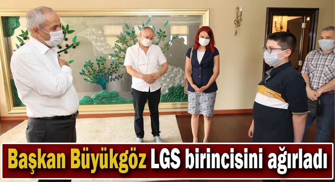 Başkan Büyükgöz LGS birincisini ağırladı