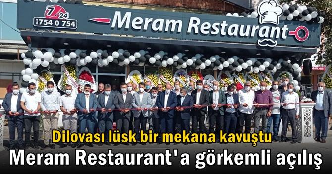 Dilovası'nda Meram Restaurant'a görkemli açılış