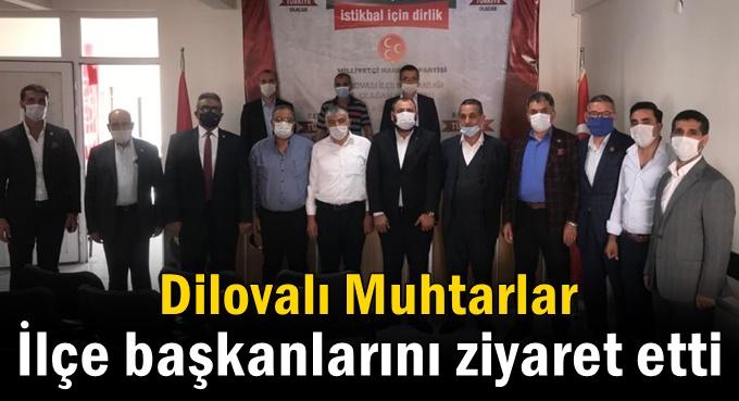 Dilovalı muhtarlardan siyasi partilere ziyaret