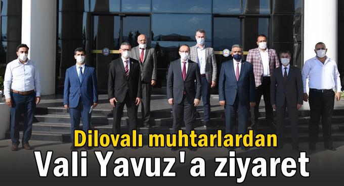 Dilovalı muhtarlardan Vali Seddar Yavuz'a ziyaret