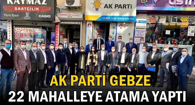 AK Gebze'de mahalle başkanları belli oluyor