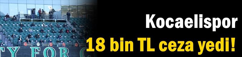 Kocaelispor 18 bin TL ceza yedi!