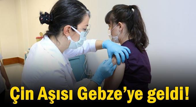 Çin Aşısı Gebze'ye geldi!