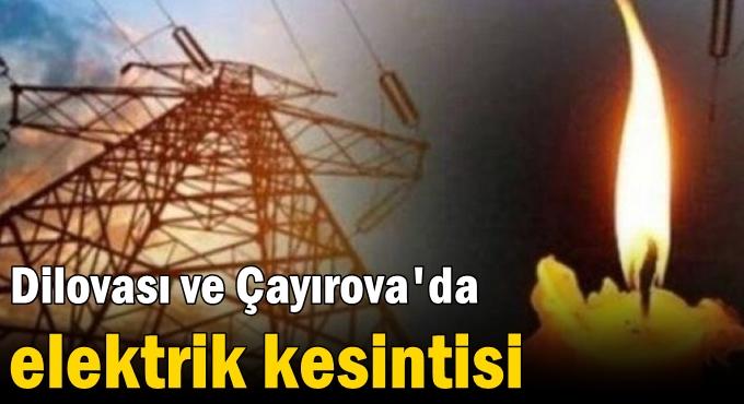 Kocaeli'de 8 ilçede elektrikler kesilecek