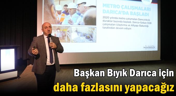 Başkan Bıyık ,Cumhur İttifakı'na çalışmaları anlattı