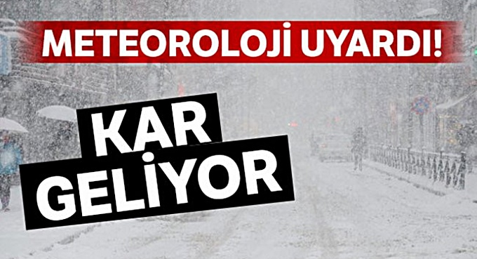 Meteorolojiden kar uyarısı, hafta boyunca sürecek