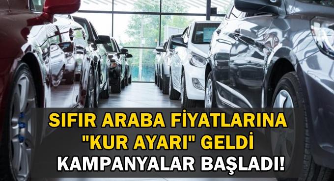 Araba Fiyatlarında Kur Ayarı: Kampanya Başladı