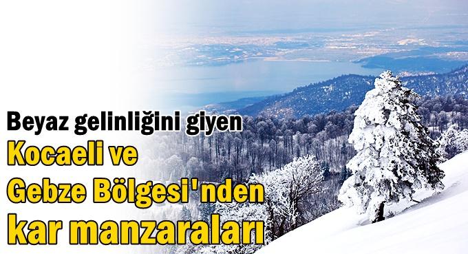 Kocaeli'de kar manzaraları