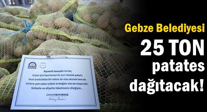 Gebze Belediyesi 1250 aileye patates dağıtıyor