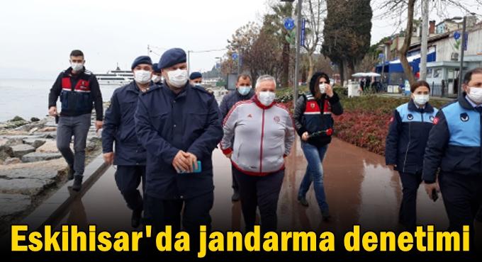 Eskihisar'da Jandarma denetimi