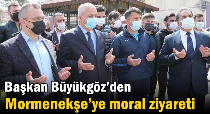 Büyükgöz'den  Mormenekşe'ye Moral ziyareti