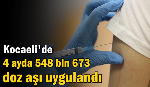 Kocaeli'de 4 ayda 548 bin 673 doz aşı uygulandı