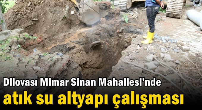 Dilovası Mimar Sinan Mahallesi'nde atık su altyapı çalışması