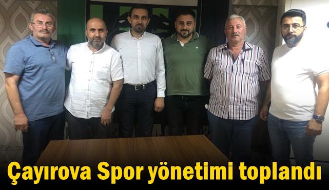 Çayırova Spor Yönetimi Toplandı