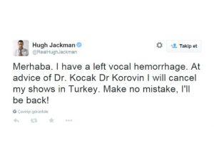 Hugh Jackman'ın İstanbul Şovu İptal Oldu