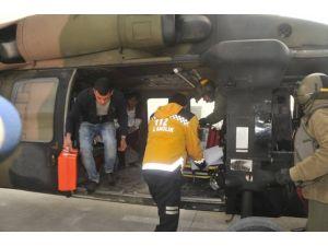 Yaralı Kadının İmdadına Askeri Helikopter Yetişti