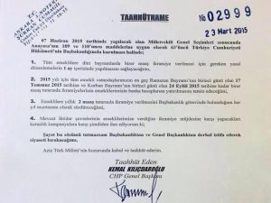 Kılıçdaroğlu'ndan Noter Tasdikli Taahhütname