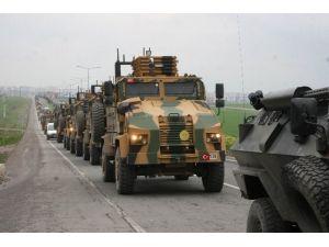 Irak Ve Suriye Sınırına Askeri Araç Sevkiyatı