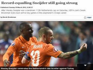 Uefa'dan Sneijder'e Övgü