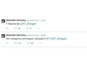 Demirtaş'tan Erdoğan'a Yanıt