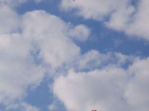 Balondan Paraşütle Atladı