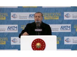 Davutoğlu Ve Erdoğan Metro Açılışında