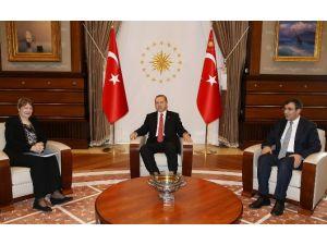Erdoğan Bm Heyetiyle Görüştü