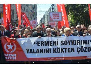 Vatan Partililerde Soykırım İddialarını Protesto Etti