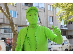 Sanat İçin Yeşile Boyandı