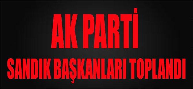Ak Parti Sandık Başkanları Toplandı