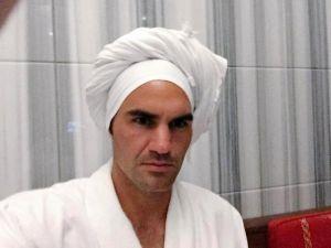Federer'in Hamam Keyfi