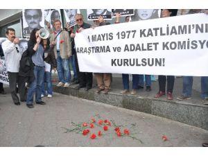 1 Mayıs 1977'de Taksim'de Ölenler Anıldı