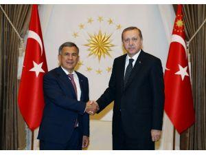 Erdoğan, Tataristan Cumhurbaşkanı'nı Kabul Etti