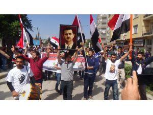 1 Mayıs Kutlamaları Esad'a Destek Mitingine Dönüştü
