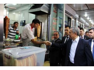 Arınç Diyarbakır'da Esnaf Ziyareti Yaptı