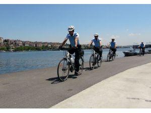 """Bisikletli Polis Timi """"Martılar'' Göreve Başladı"""
