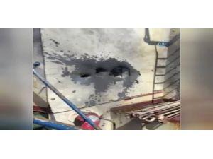 Libya'da Saldırıya Uğrayan Gemideki Hasar Kamerada