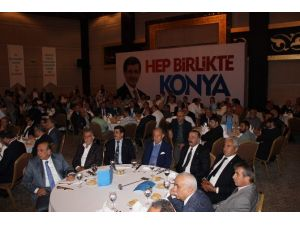 Konya'da Başbakan Davutoğlu'na Destek
