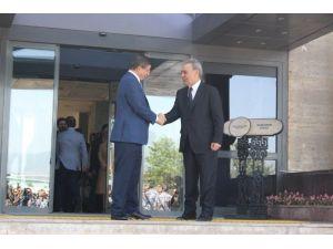 Davutoğlu, Aziz Kocaoğlu'nu Ziyaret Etti