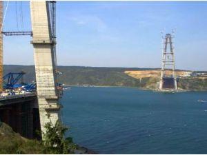 3. Köprüde Askı Halatlarının Montajı Başladı