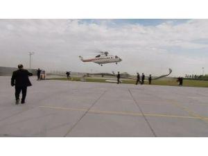 Erdoğan'ın Helikopteri Alana İnemedi